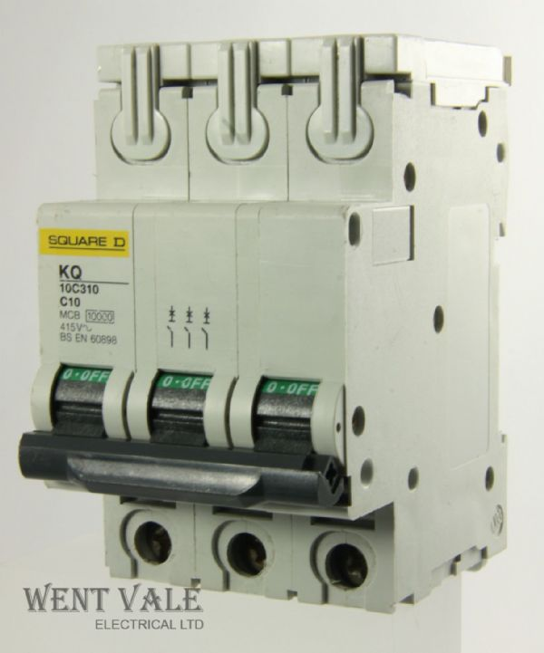 Square D Loadcentre - KQ10C310 - 10a Type C Triple Pole MCB Used